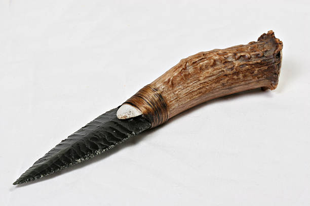 Flint Knife stock photo