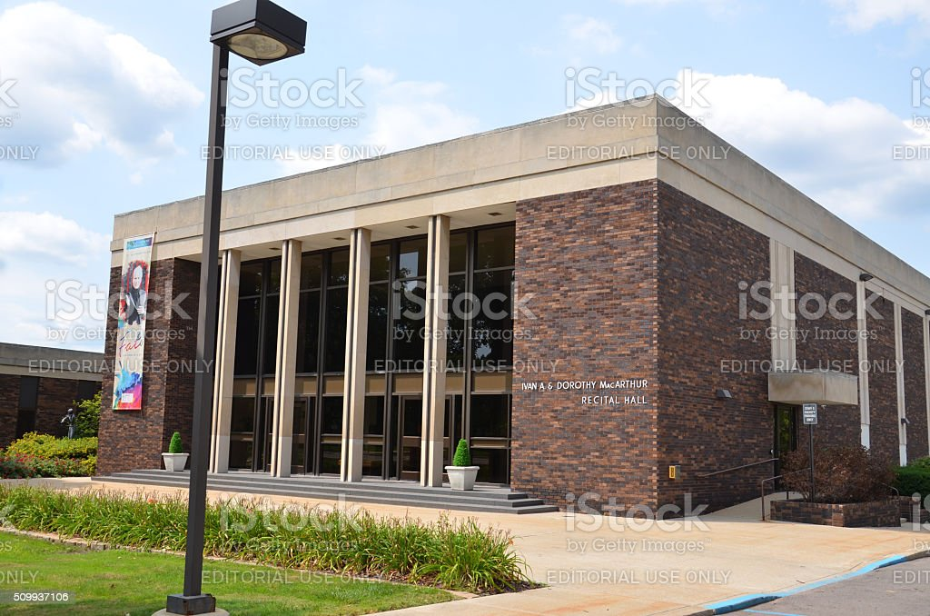Flint McArthur Recital Hall stock photo