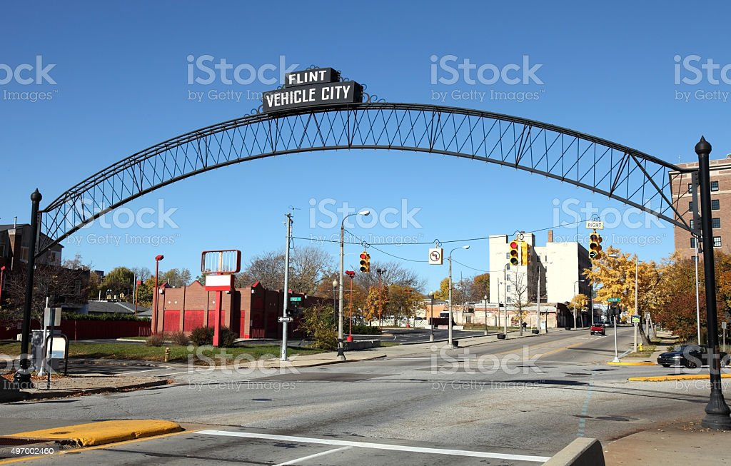 Flint Michigan stock photo