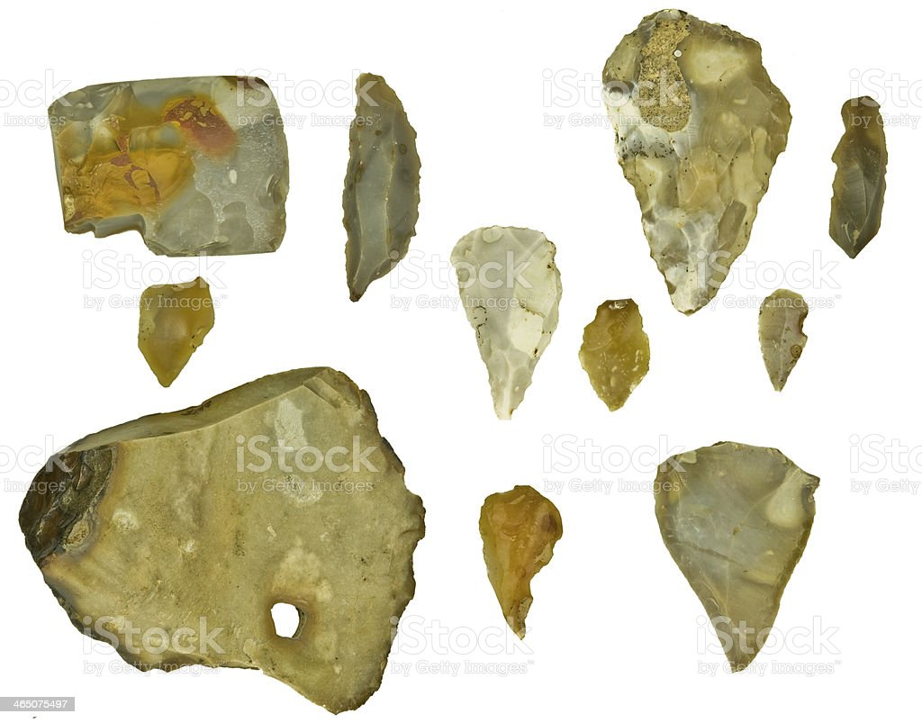 flint silex stones stock photo