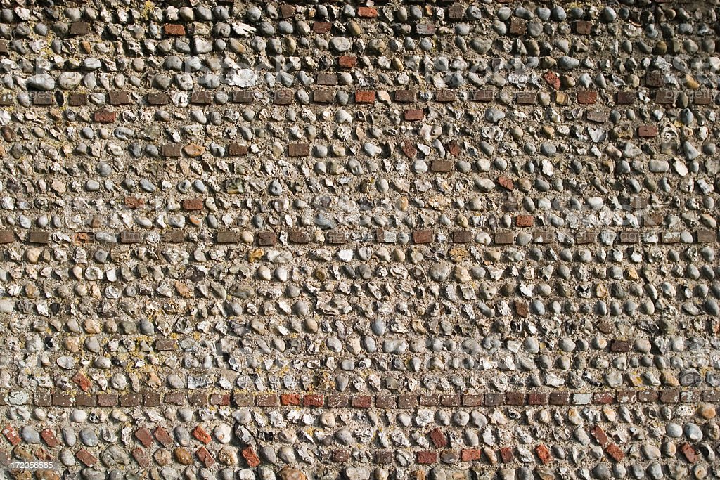 Flint wall royalty-free stock photo