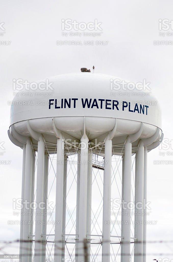 Flint Water Plant Tank stock photo
