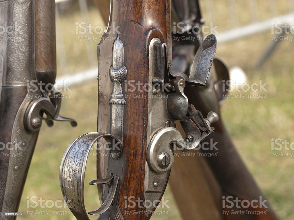 Flintlock  mechanism royalty-free stock photo