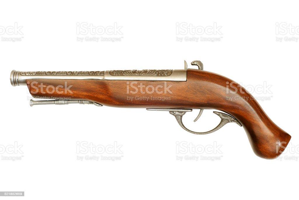 Flintlock pistol stock photo
