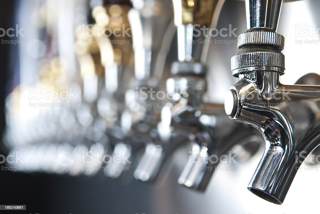 Flip Beer Taps royalty-free stock photo