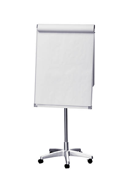 Flip chart (clipping path), isolated on white background Flip chart with paper. Isolated with clipping path. Just add your own invitation, text, flow chart, graph on it... ;)   flipchart stock pictures, royalty-free photos & images