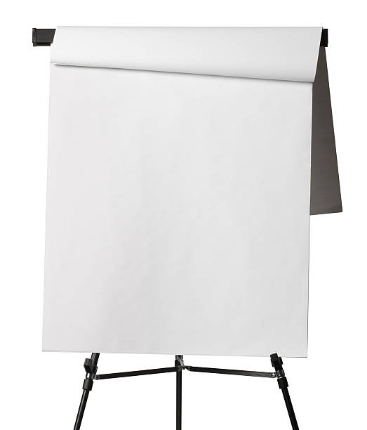 Flip chart with pages flipped isolated on white background Flip chart with a page flipped over.ase see some similar pictures from my portfolio: flipchart stock pictures, royalty-free photos & images