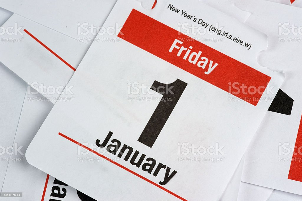 Flip Desktop Callendar Page royalty-free stock photo