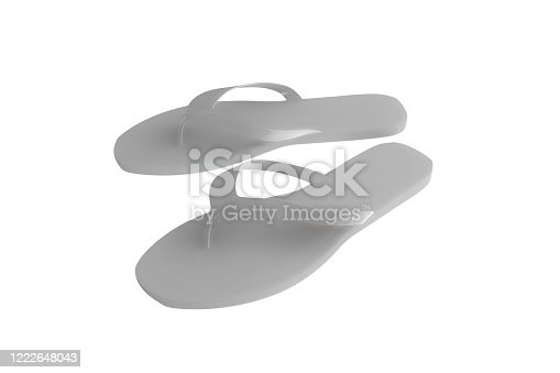 955947208 istock photo flip flop isolated on white 1222648043