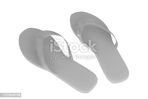955947208 istock photo flip flop isolated on white 1222648138