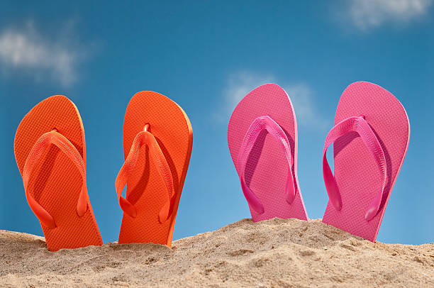 Flip Flops At The Beach stock photo