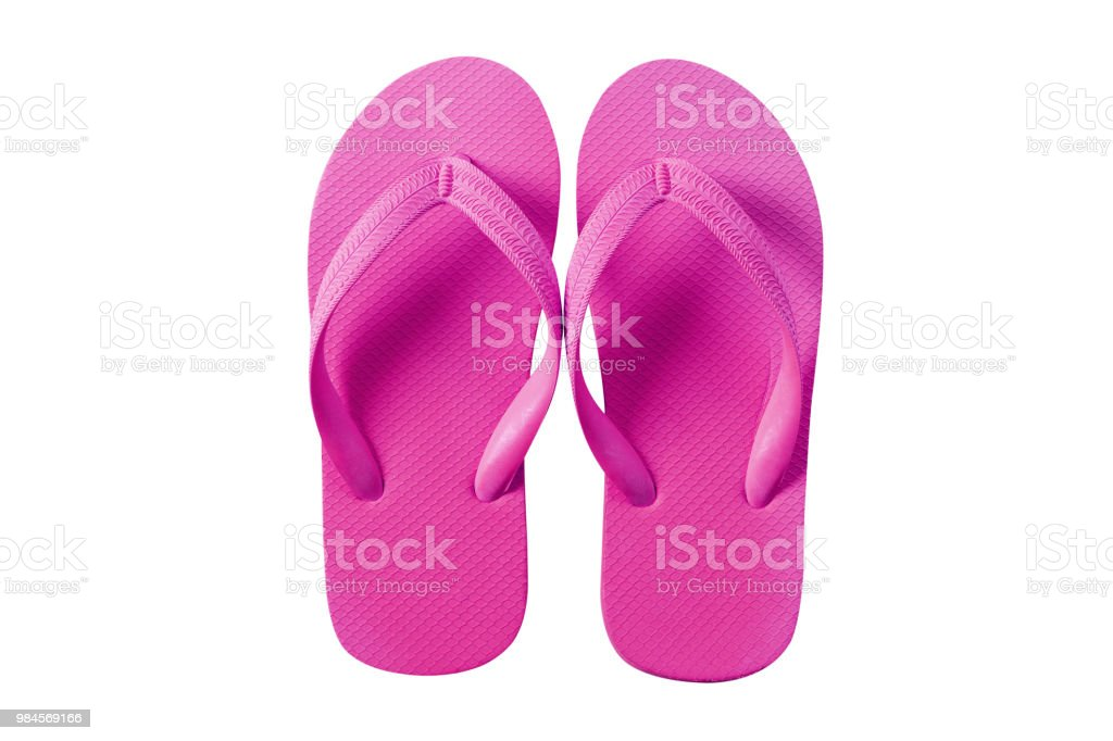 dbe01b18c6de Flip flops bright pink isolated on white background royalty-free stock photo