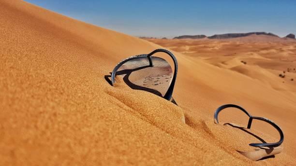 Flip Flops in der Wüste – Foto