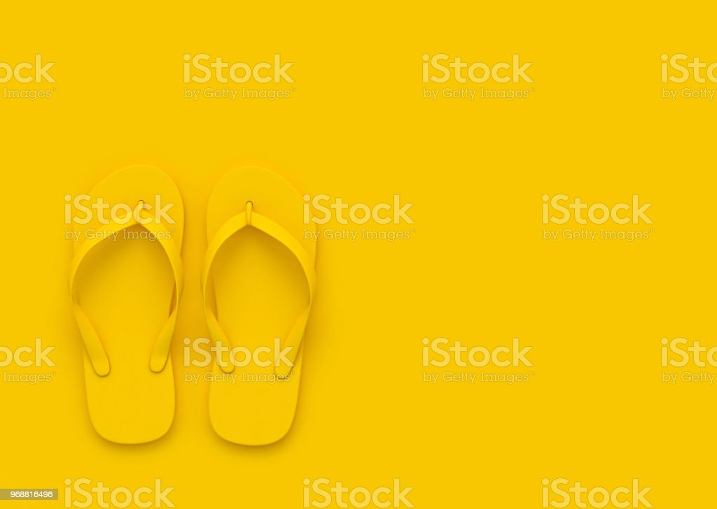 737b49ae2d08 Flip Flops On Orange Background Summer Concept Stock Photo   More ...