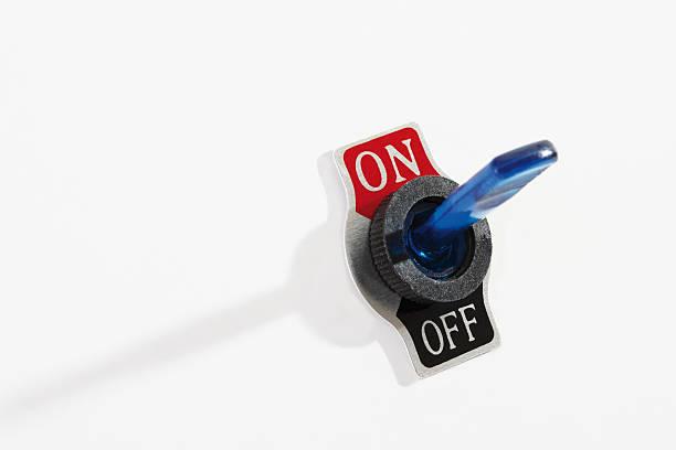 flip switch on-off - stay tuned bildbanksfoton och bilder