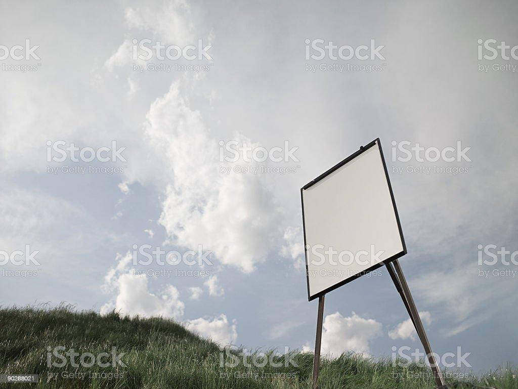 Flipchart in a field stock photo