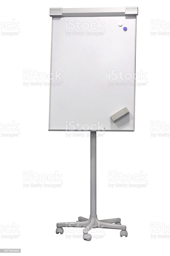 Flip-chart (clipping path), isolated on white background royalty-free stock photo