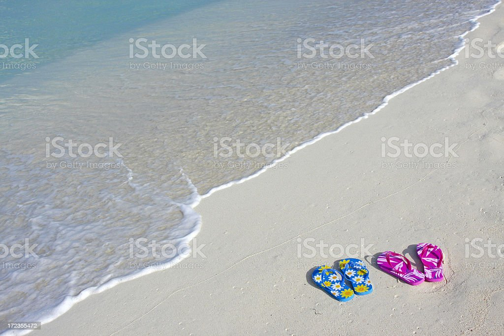 Flip-flops at the beach # 3 royalty-free stock photo