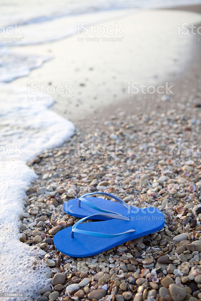 Flip-flops By The Sea royalty-free stock photo