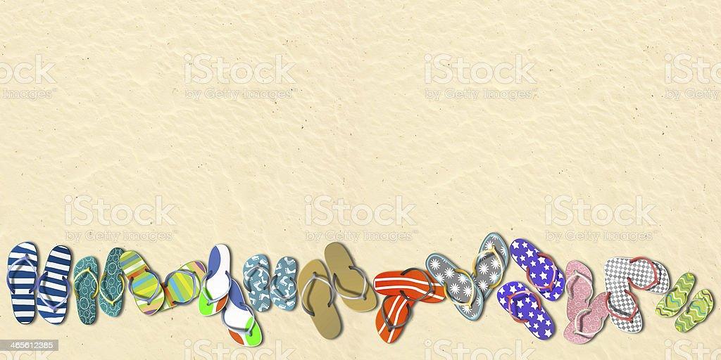 Flip-flops. Holidays on the beach. royalty-free stock photo
