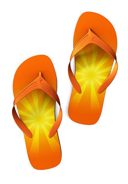Flip-flops with Sunshine stock photo