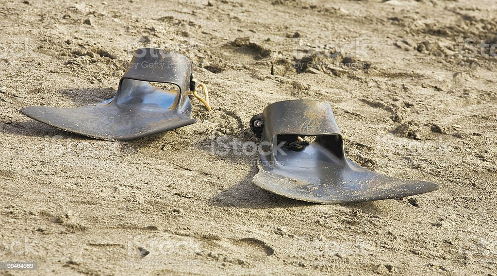 Flippers black color royalty-free stock photo