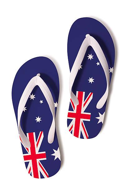 Flip-Flops und Australische Flagge – Foto