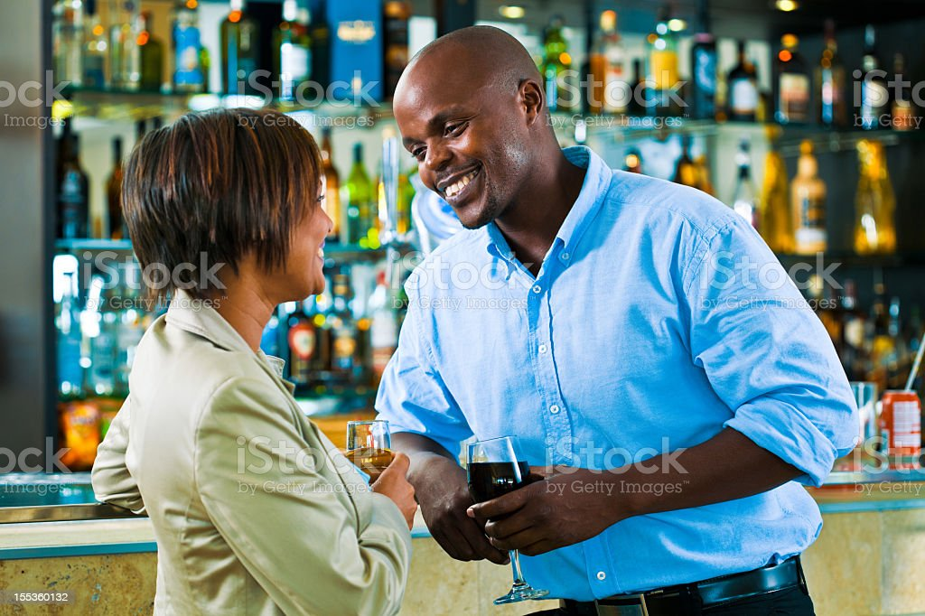 Flirt in the pub  Adult Stock Photo