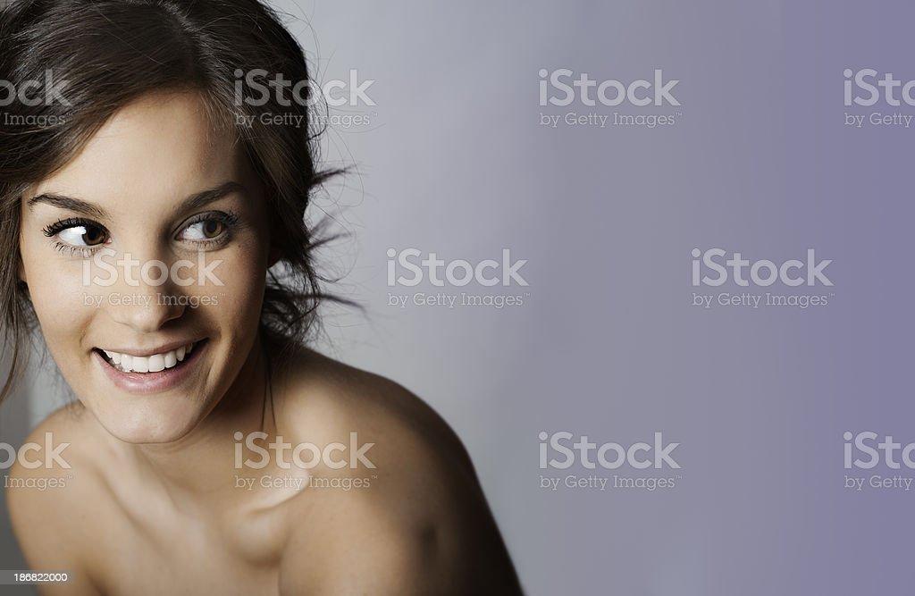 Flirtacious Laugh stock photo