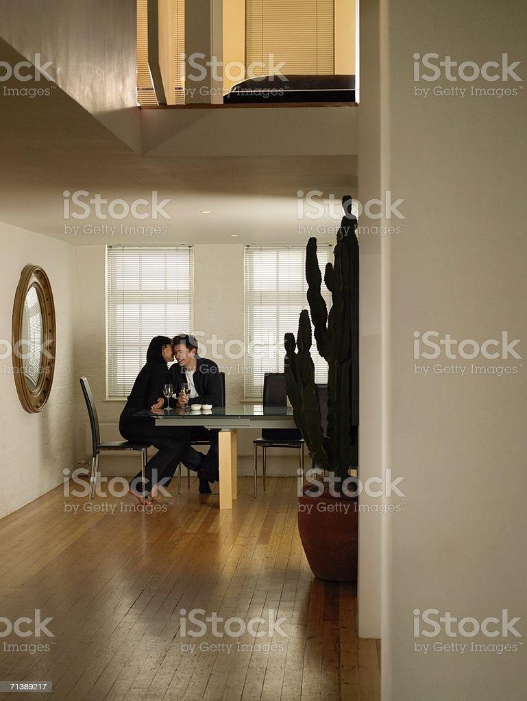 Flirtatious couple royalty-free stock photo