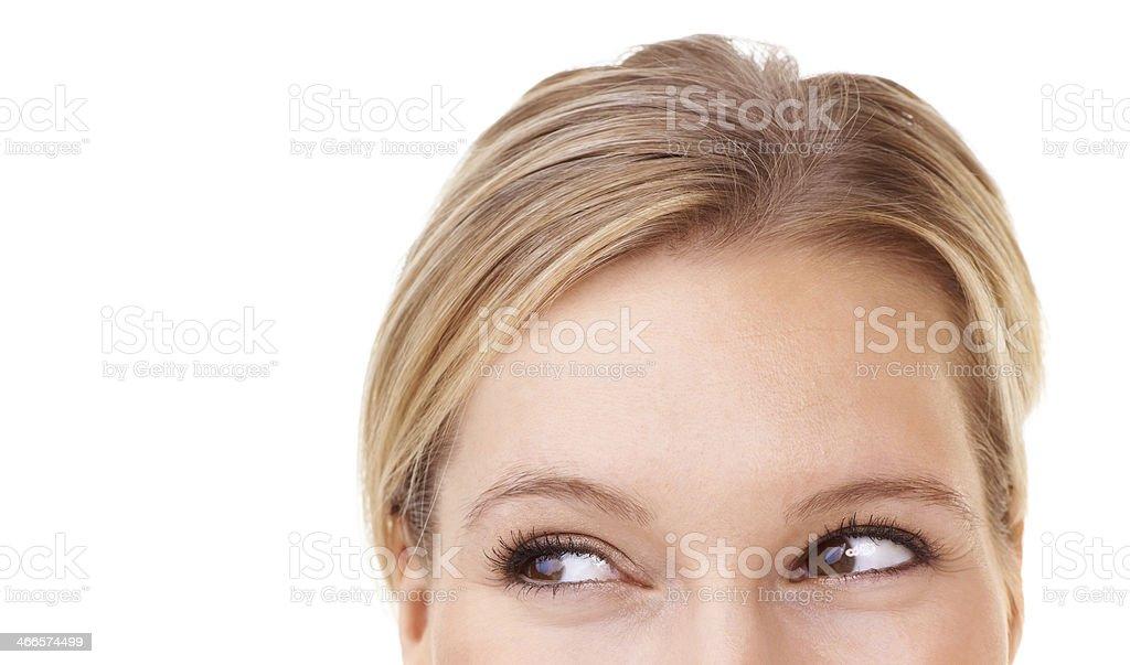 Flirtatious peek stock photo