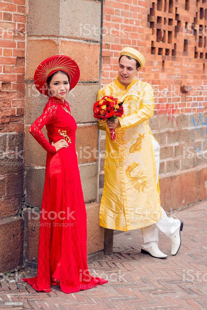 Flirting couple stock photo