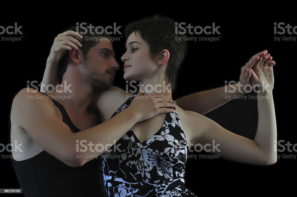 Flirtare dance foto stock royalty-free