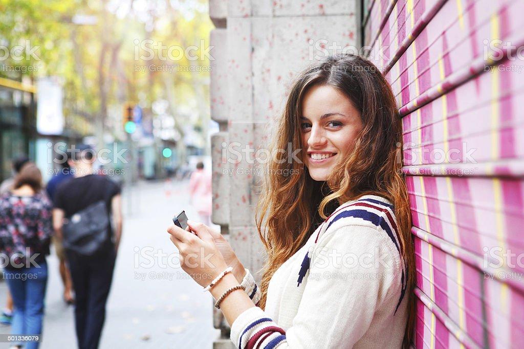 Flirting girl royalty-free stock photo