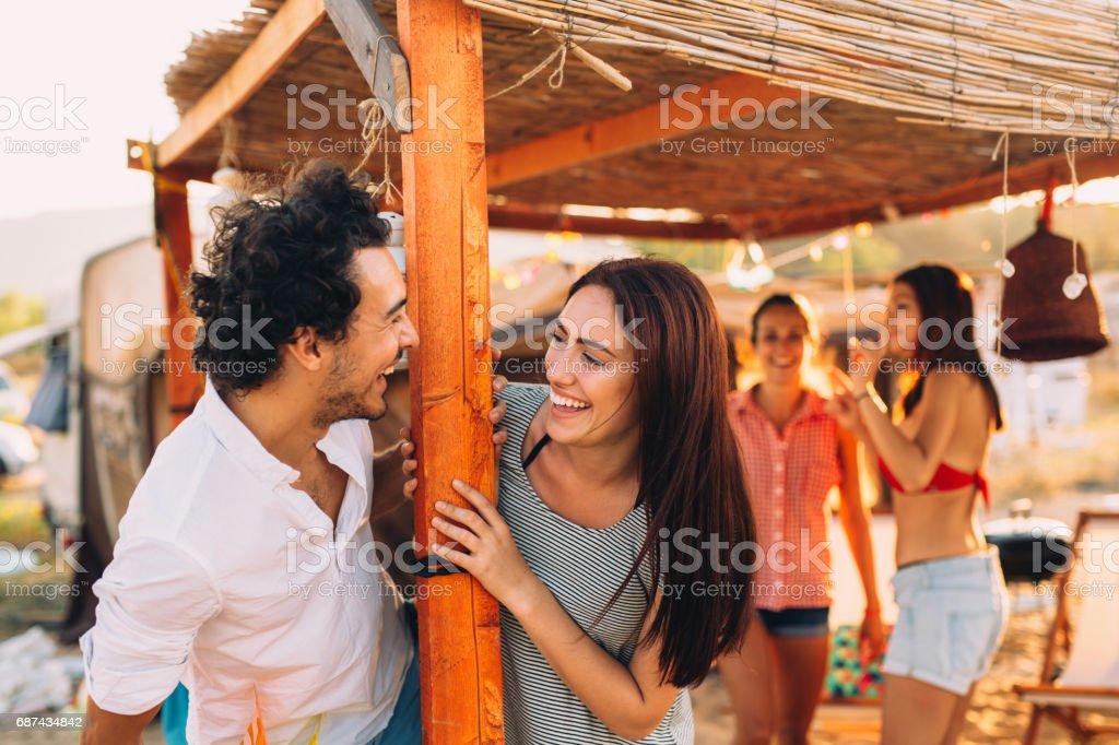 Flirting in the summertime stock photo