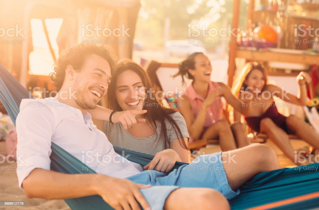 Flirting in the summertime stock photo