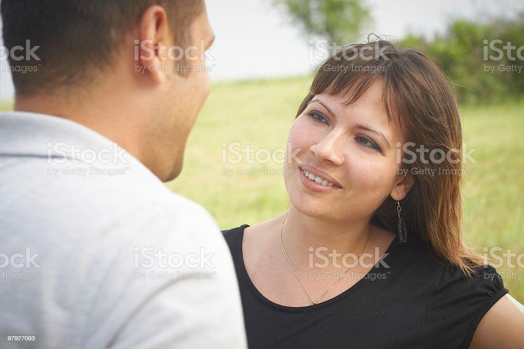 flirting royalty-free stock photo