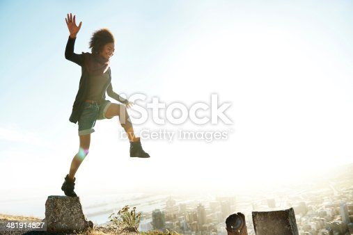 istock Flirting with gravity 481914827