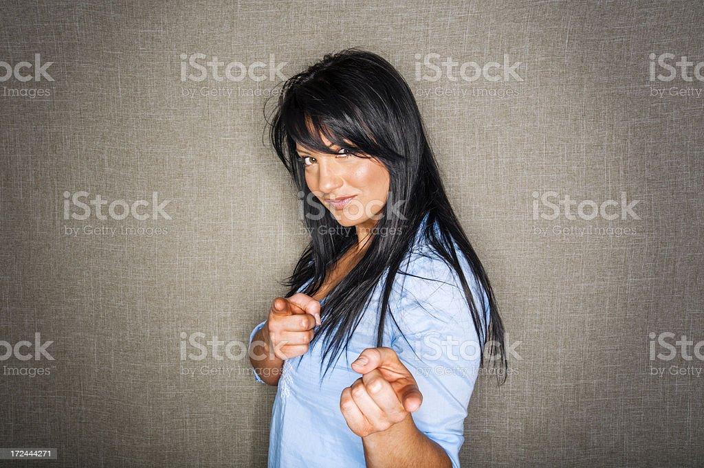 Flirting Woman royalty-free stock photo