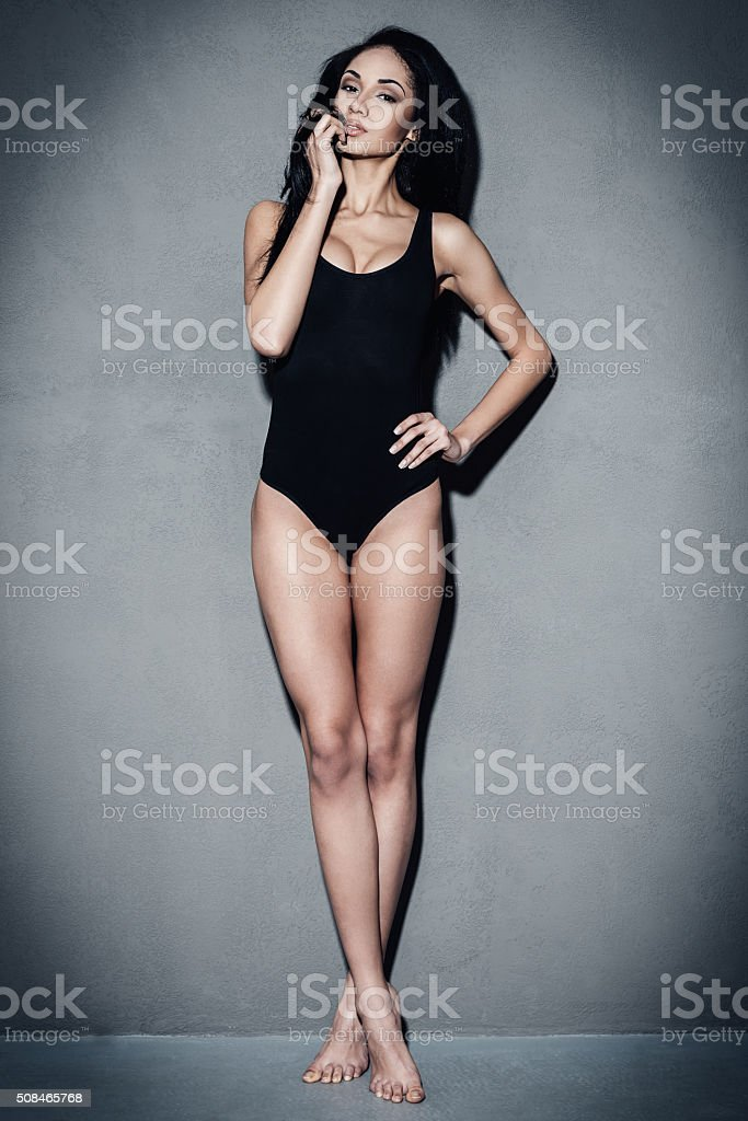 Flirty and gorgeous. stock photo