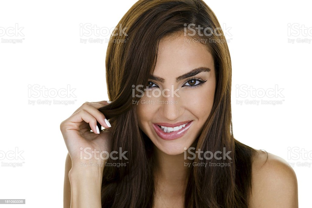 Flirty expression royalty-free stock photo