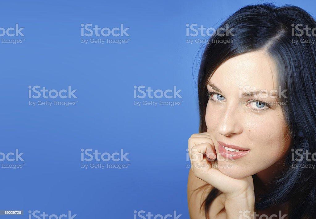Flirty eyes royalty-free stock photo