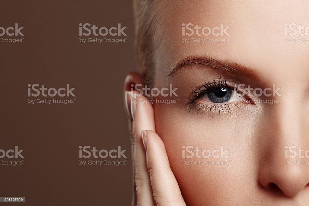 Flirty lashes stock photo