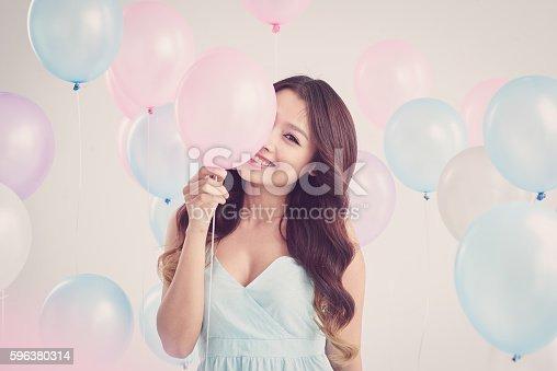 istock Flirty woman 596380314