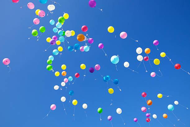 Fliying Balloons stock photo