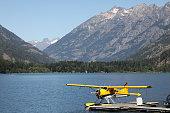 Float Airplane at Lake Chelan in North Cascades\nStehekin, Lake Chelan National Recreation Area