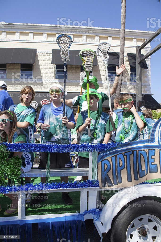 Float in the St. Patrick's Day Parade  RM stock photo