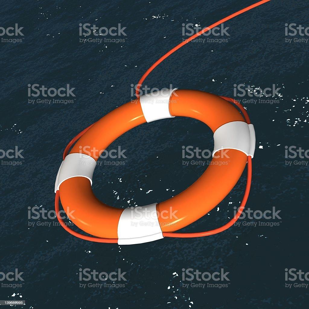 Float Over Sea BG Close-up royalty-free stock photo
