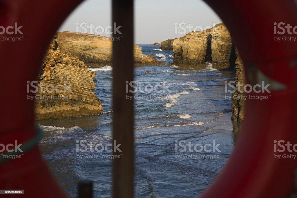 Float Overlooking Beach - Flotador con Vistas a Playa royalty-free stock photo