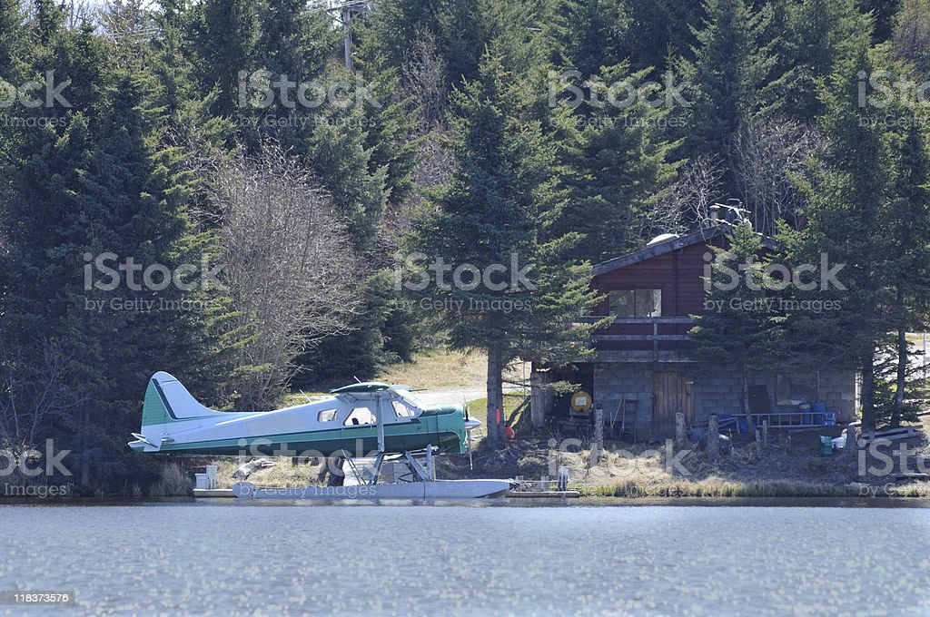 Float Plane At Homer Alaska stock photo